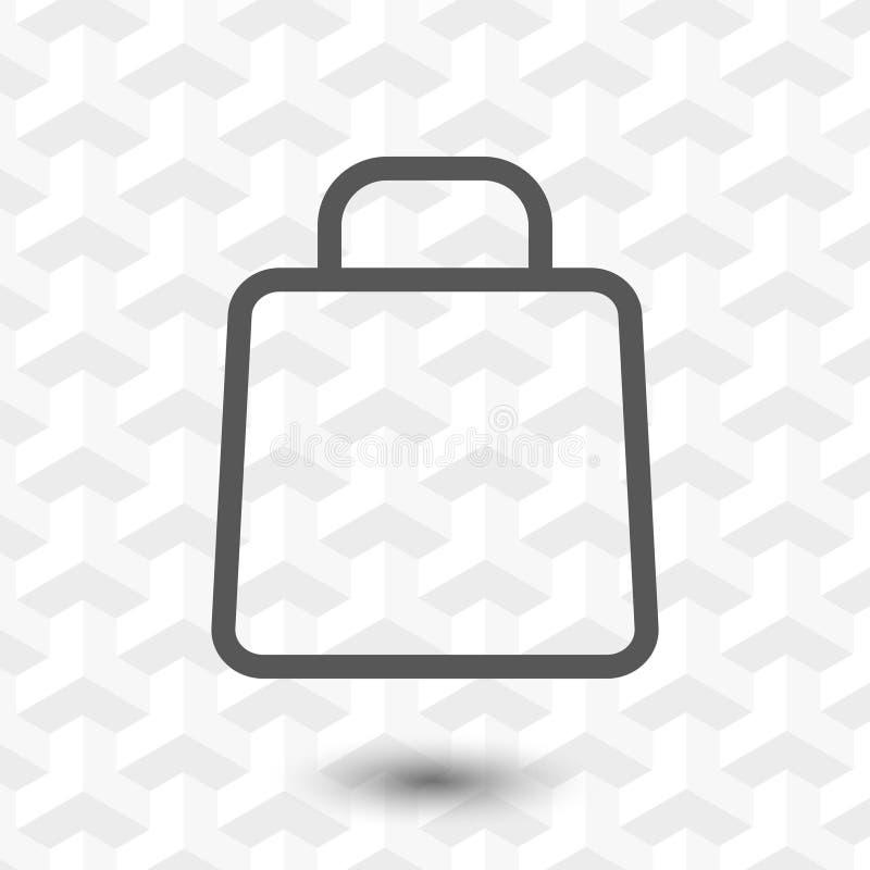 Progettazione piana dell'illustrazione di vettore delle azione dell'icona del carrello illustrazione di stock