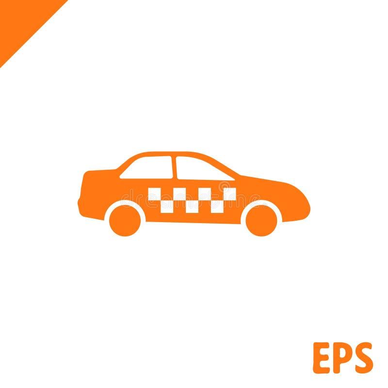 Progettazione piana dell'illustrazione di vettore delle azione dell'icona del taxi illustrazione vettoriale