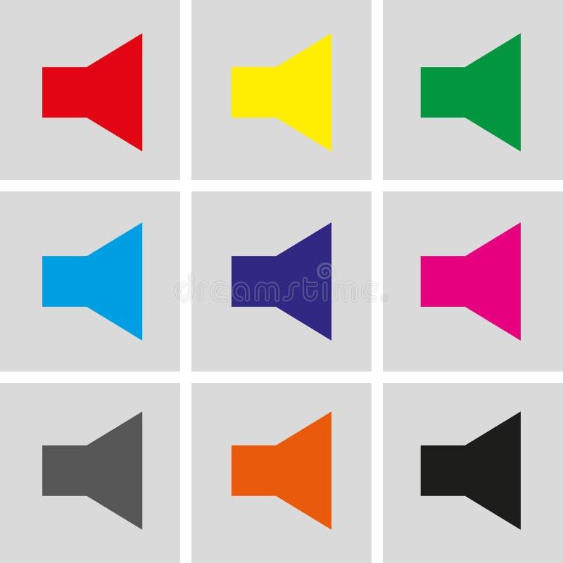 Progettazione piana dell'illustrazione di vettore delle azione dell'icona del volume illustrazione vettoriale