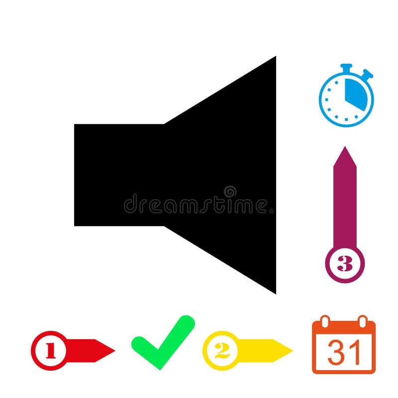 Progettazione piana dell'illustrazione di vettore delle azione dell'icona del volume illustrazione di stock