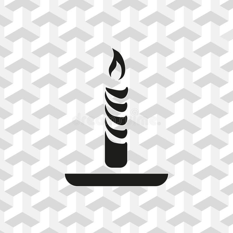 Progettazione piana dell'illustrazione di vettore delle azione dell'icona della candela royalty illustrazione gratis