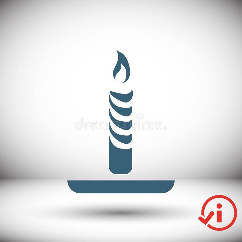 Progettazione piana dell'illustrazione di vettore delle azione dell'icona della candela illustrazione di stock