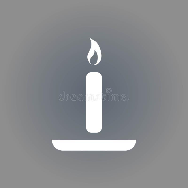Progettazione piana dell'illustrazione di vettore delle azione dell'icona della candela illustrazione vettoriale