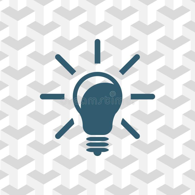 Progettazione piana dell'illustrazione di vettore delle azione dell'icona della lampadina royalty illustrazione gratis