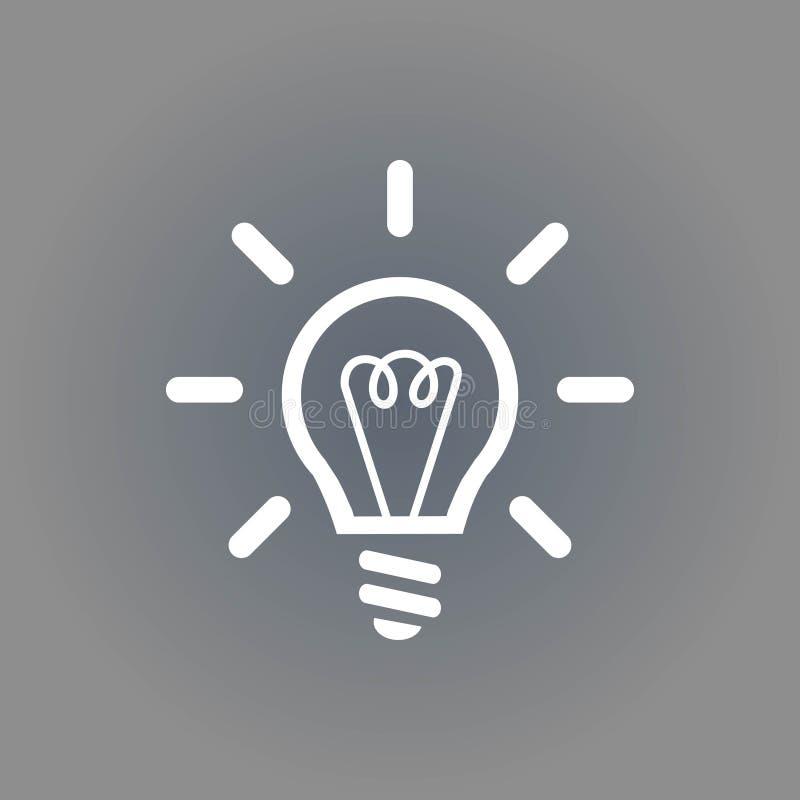 Progettazione piana dell'illustrazione di vettore delle azione dell'icona della lampadina illustrazione di stock