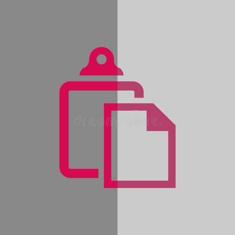 Progettazione piana dell'illustrazione di vettore delle azione dell'icona della pasta illustrazione di stock
