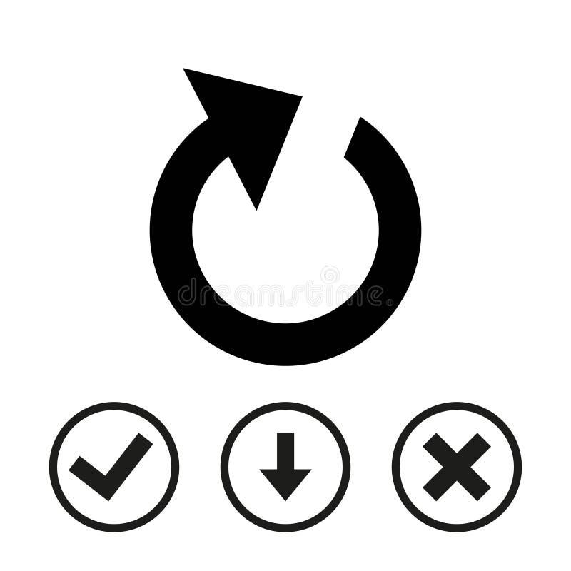 Progettazione piana dell'illustrazione di vettore delle azione dell'icona della ricarica illustrazione vettoriale
