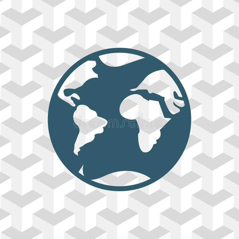 Progettazione piana dell'illustrazione di vettore delle azione dell'icona della terra illustrazione vettoriale