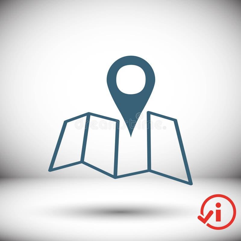 Progettazione piana dell'illustrazione di vettore delle azione dell'icona di navigazione illustrazione di stock