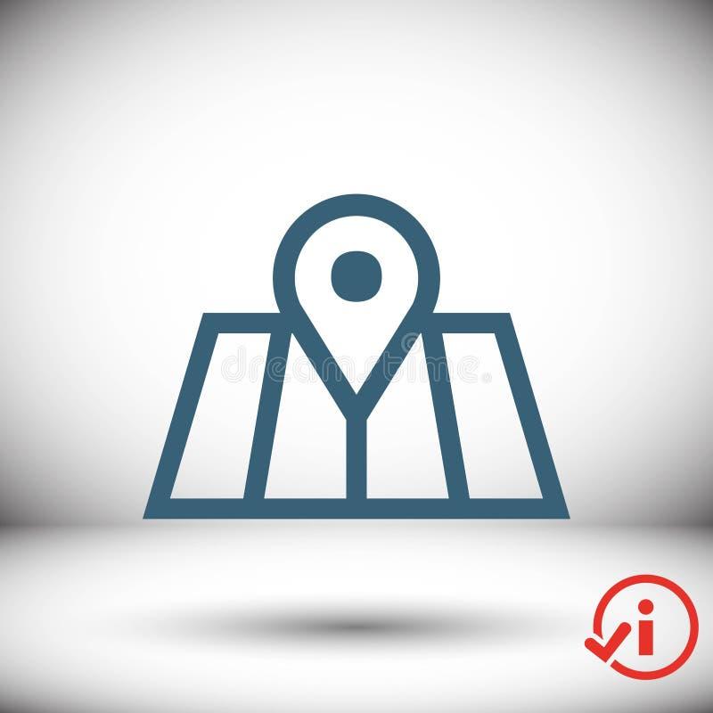 Progettazione piana dell'illustrazione di vettore delle azione dell'icona di navigazione royalty illustrazione gratis