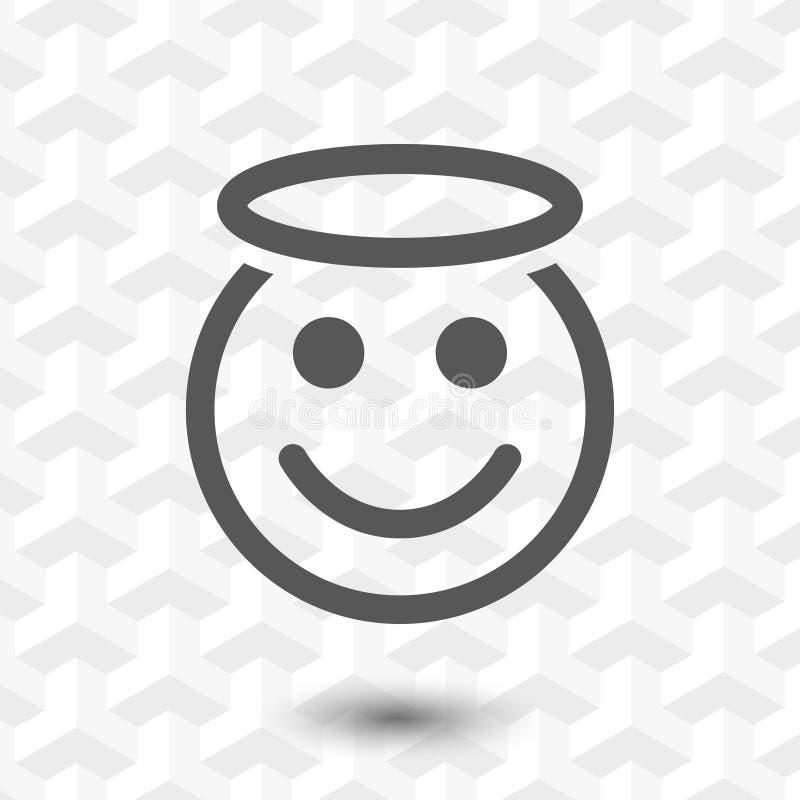 Progettazione piana dell'illustrazione di vettore delle azione dell'icona di sorriso di angelo royalty illustrazione gratis