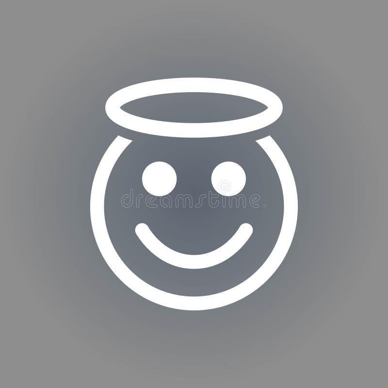 Progettazione piana dell'illustrazione di vettore delle azione dell'icona di sorriso di angelo illustrazione vettoriale