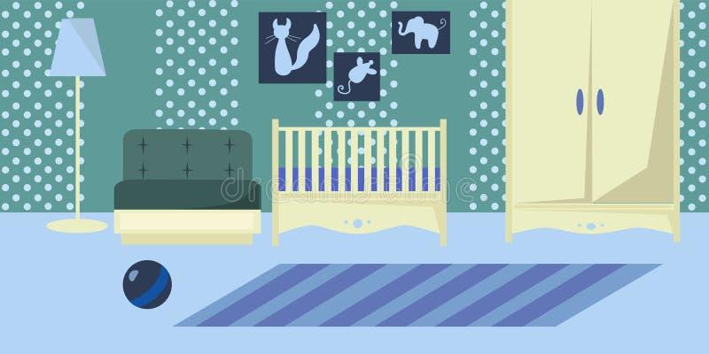 Progettazione piana dell'interno della scuola materna royalty illustrazione gratis