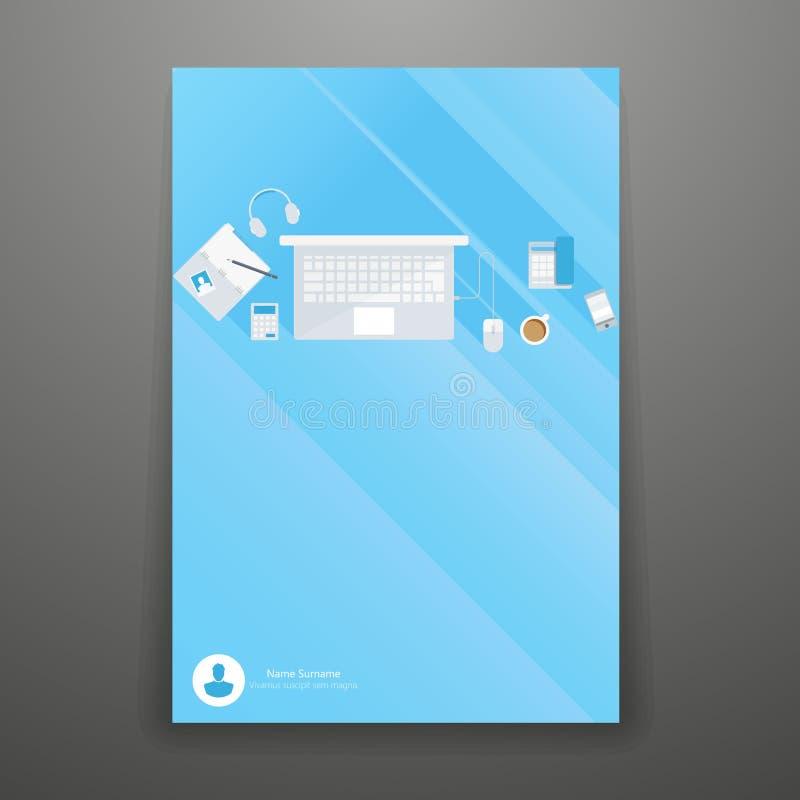 Progettazione piana dell'opuscolo illustrazione di stock