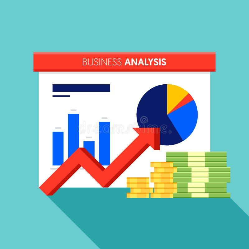 Progettazione piana di concetto di strategia di analisi di dati di gestione di Digital royalty illustrazione gratis