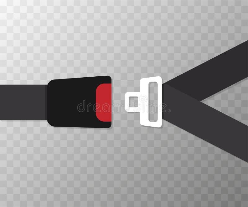 Progettazione piana di vettore della cintura di sicurezza Illustrazione di vettore royalty illustrazione gratis