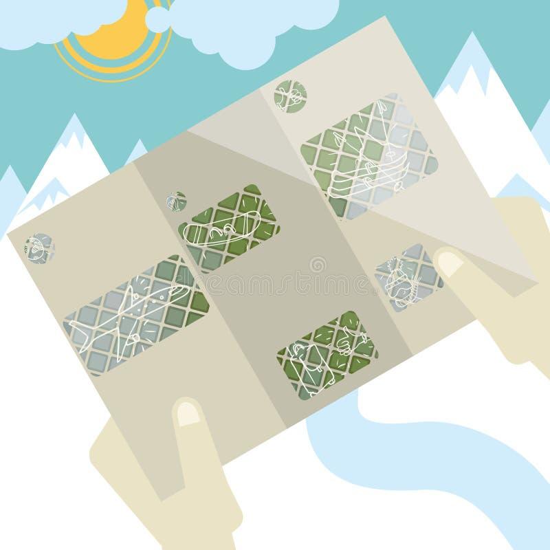 Progettazione piana, modello dell'opuscolo royalty illustrazione gratis