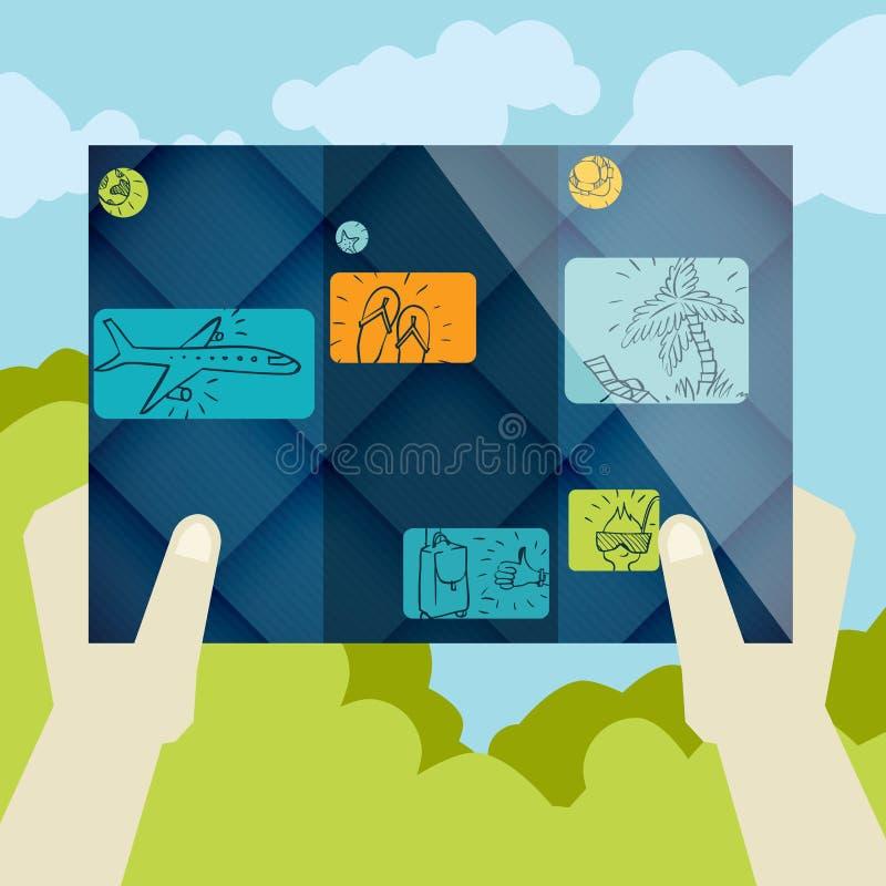 Progettazione piana, modello dell'opuscolo illustrazione di stock