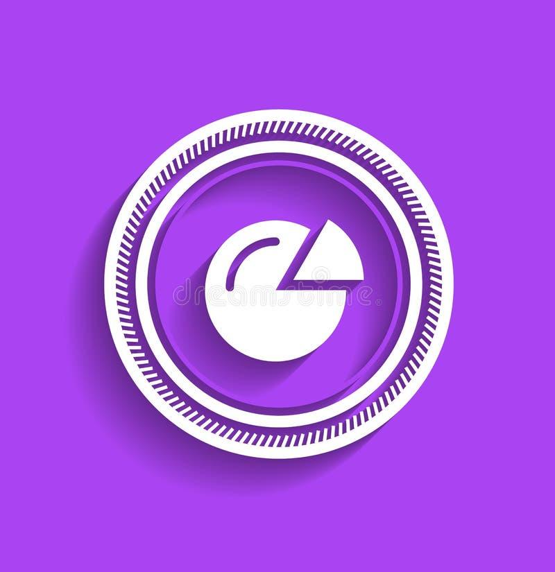 Progettazione piana moderna del bollo dell'icona del grafico di vettore illustrazione di stock