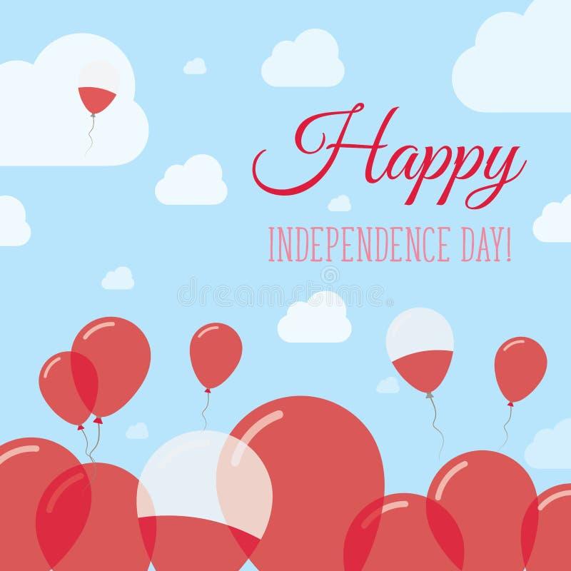 Progettazione pianamente patriottica di festa dell'indipendenza della Polonia illustrazione di stock