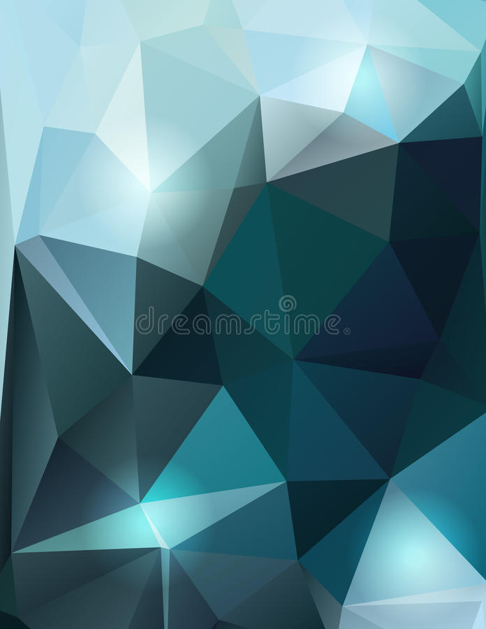 Progettazione poligonale blu del fondo royalty illustrazione gratis