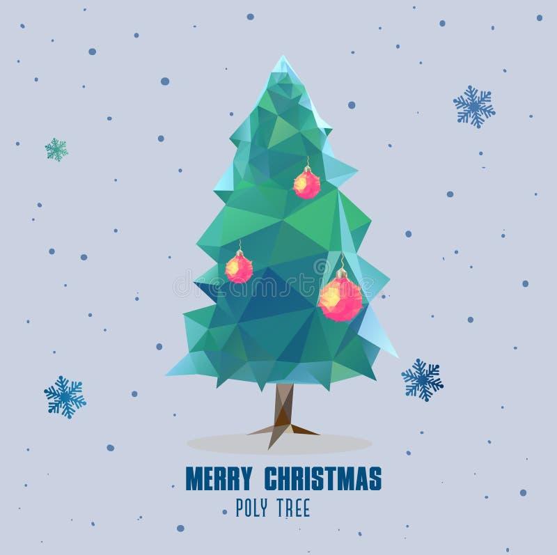 Progettazione poligonale della palla dell'albero di Natale fotografia stock libera da diritti