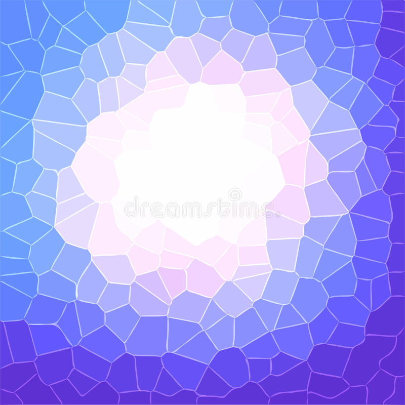 Progettazione porpora del modello di cristallizzazione illustrazione di stock