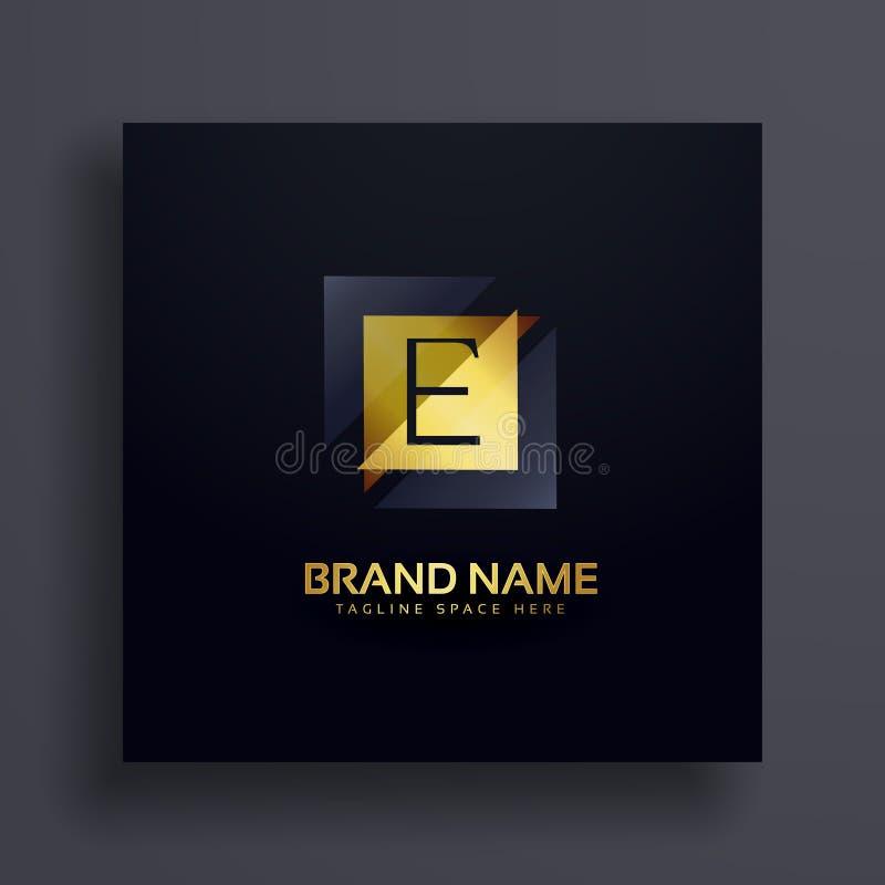 Progettazione premio di logo di concetto della lettera E illustrazione vettoriale