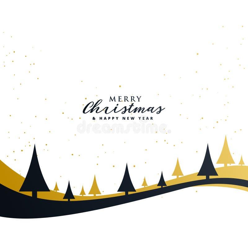 Progettazione premio di saluto di Buon Natale minimo illustrazione vettoriale