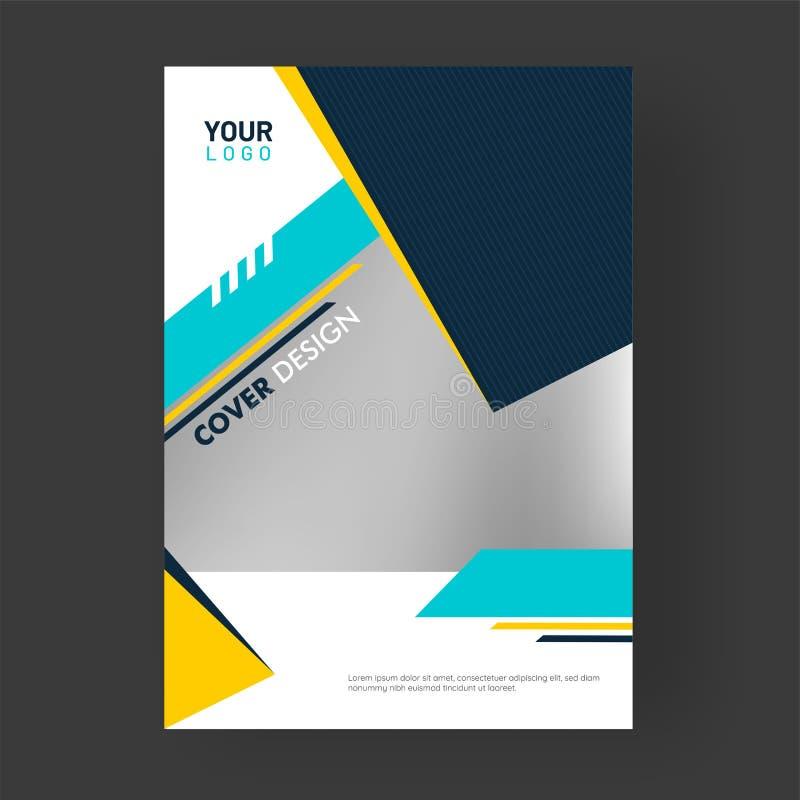 Progettazione professionale della copertina di affari con gli elementi astratti illustrazione vettoriale