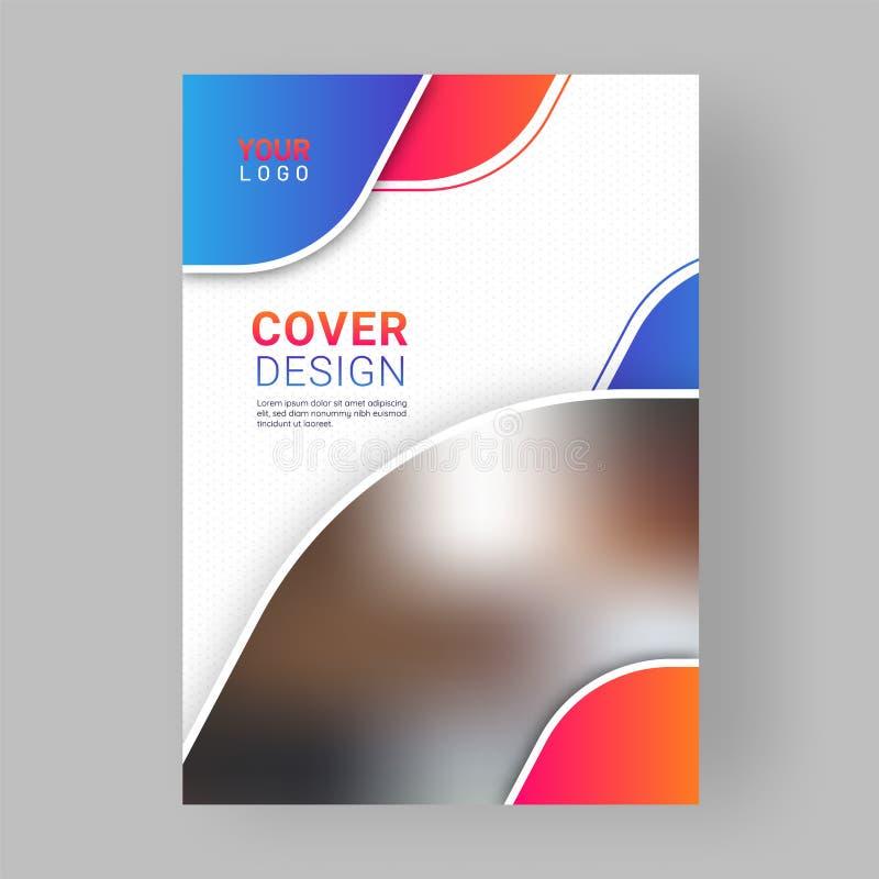 Progettazione professionale della copertina di affari con gli elementi astratti royalty illustrazione gratis