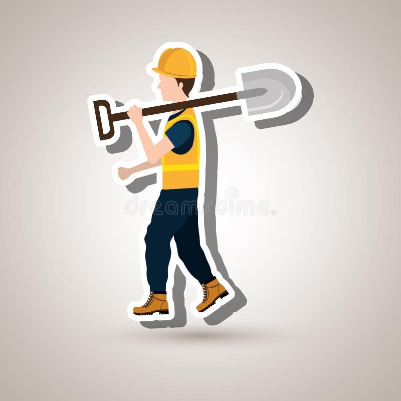 progettazione professionale della costruzione illustrazione di stock