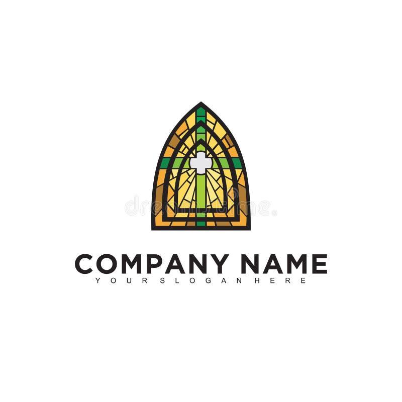Progettazione professionale moderna minimalistic semplice di logo del modello dell'illustratore di religione ENV illustrazione di stock