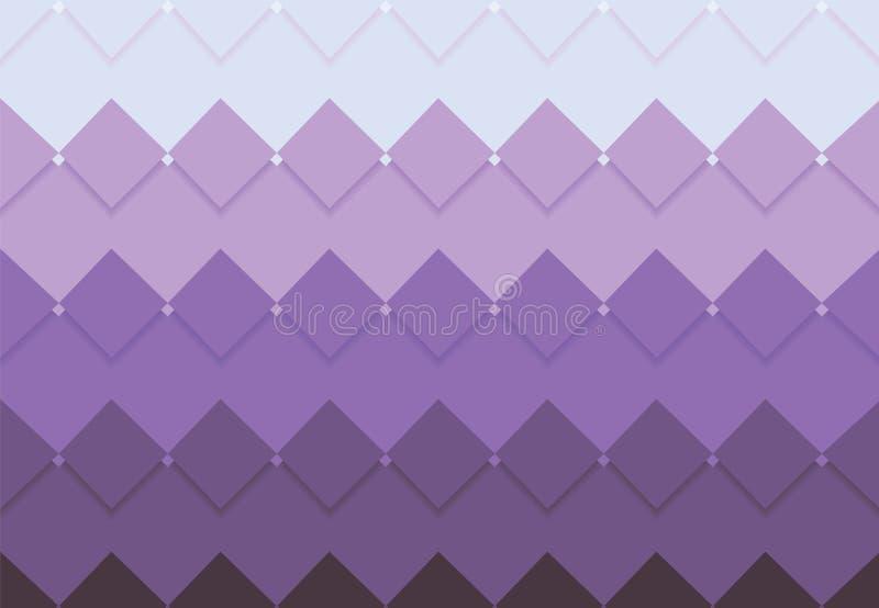 Progettazione quadrata dell'angolo del fondo di vettore del mosaico illustrazione vettoriale