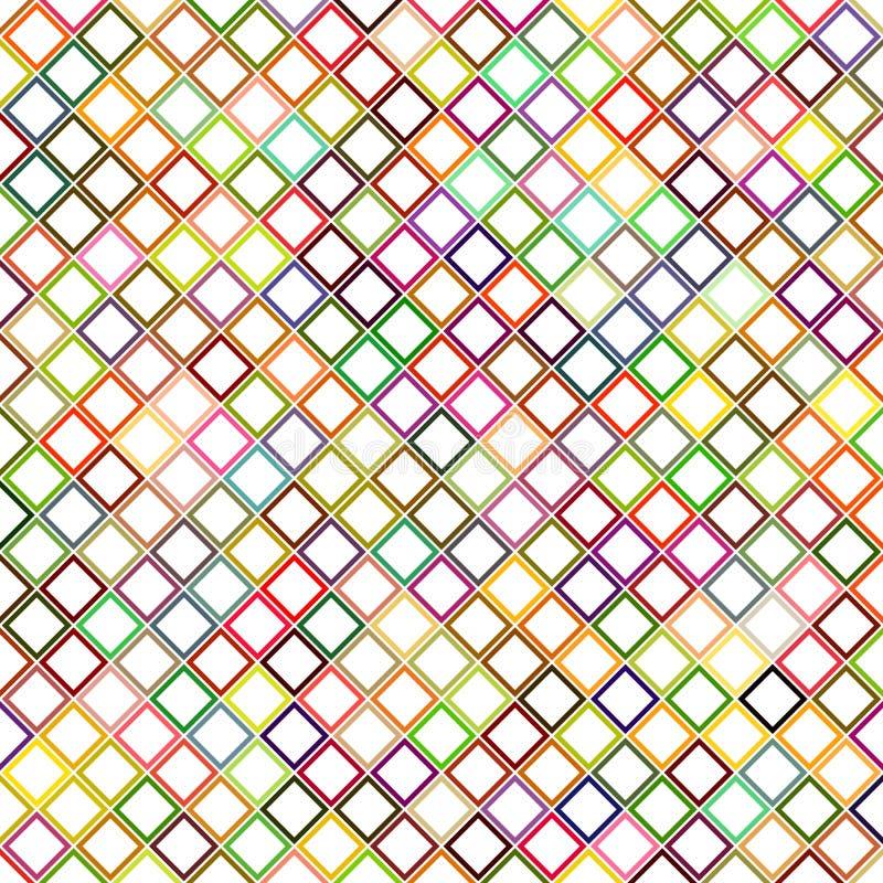 Progettazione quadrata diagonale astratta variopinta del modello illustrazione vettoriale