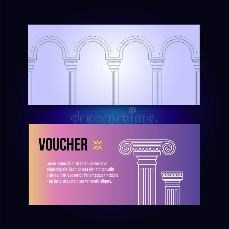 Progettazione realistica dell'arco Artline sul vettore antico di architettura del fondo royalty illustrazione gratis