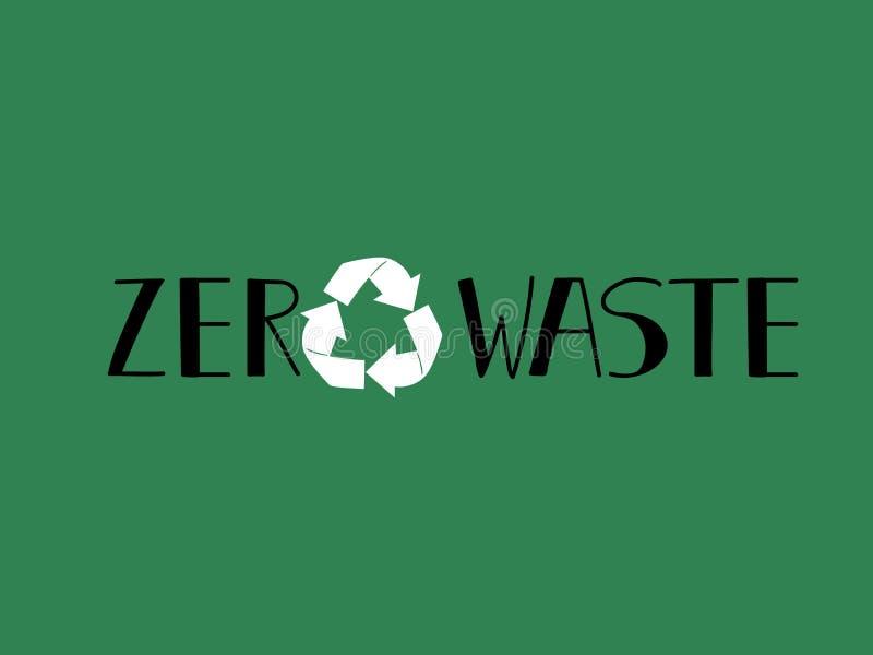 Progettazione residua zero usi meno illustrazione di plastica di concetto illustrazione vettoriale