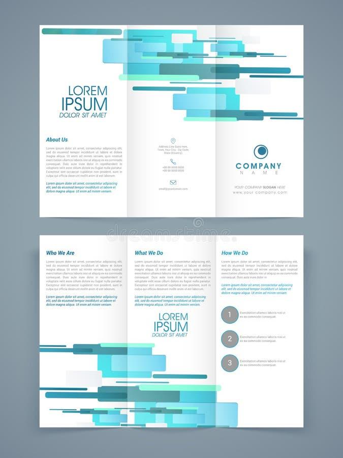 Progettazione ripiegabile astratta dell'opuscolo, del modello o dell'aletta di filatoio royalty illustrazione gratis