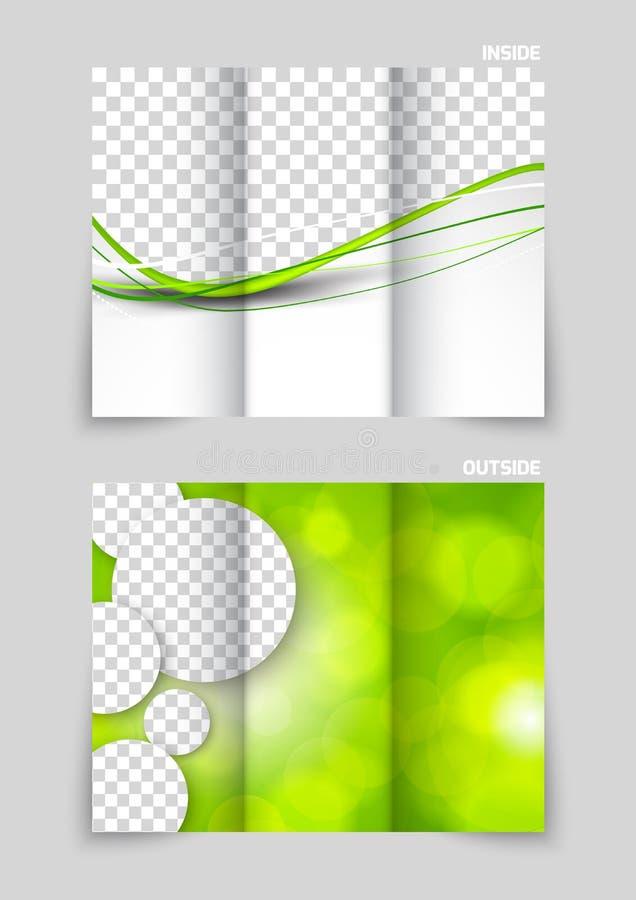 Progettazione ripiegabile del modello dell'opuscolo illustrazione vettoriale