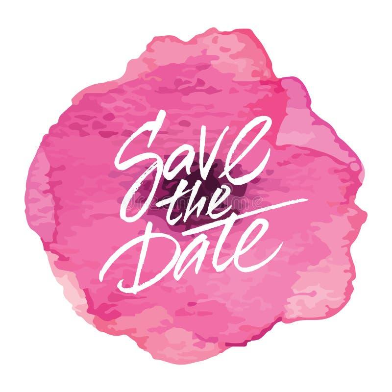Download Progettazione 'risparmi Della Partecipazione Di Nozze La Data' Illustrazione Vettoriale - Illustrazione di invito, pittura: 56885349