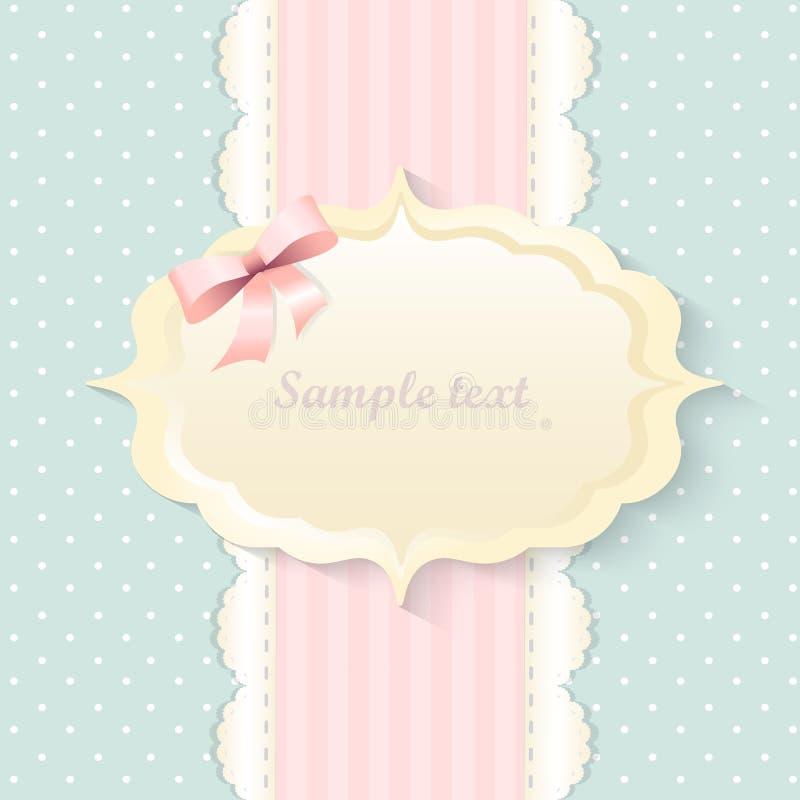 Progettazione romantica classica dell'invito Vettore Colore rosa fotografie stock