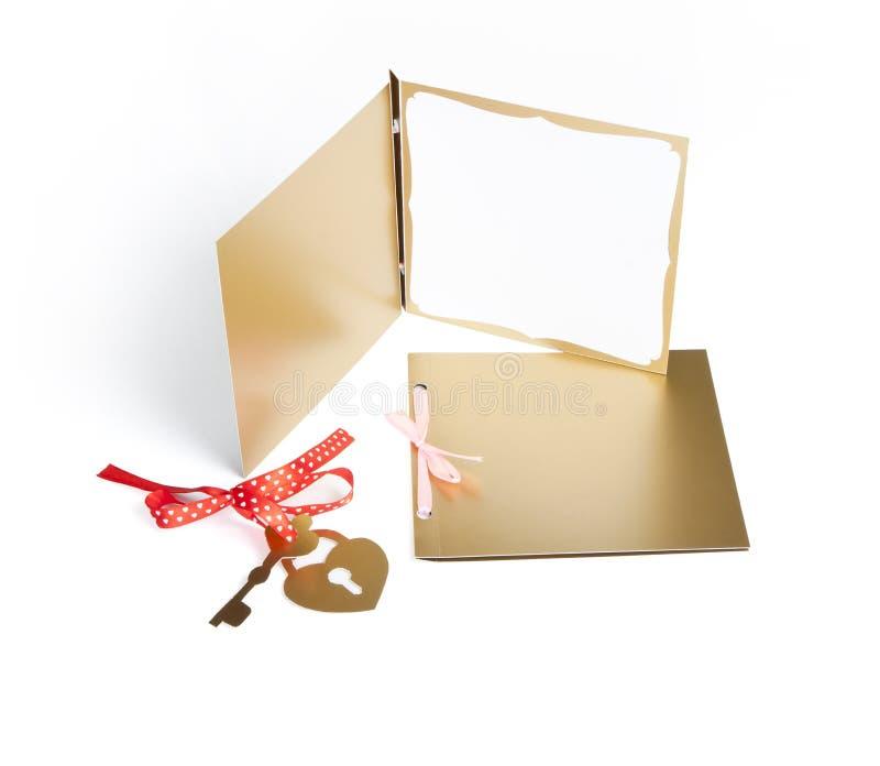 Progettazione romantica fissata su bianco Per essere usato per gli inviti, carte fotografia stock libera da diritti