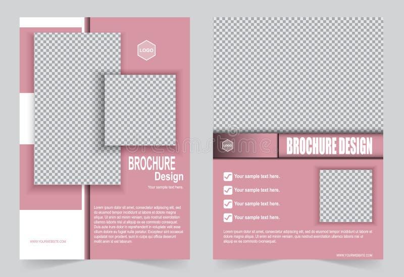 Progettazione rosa dell'aletta di filatoio del modello dell'opuscolo royalty illustrazione gratis