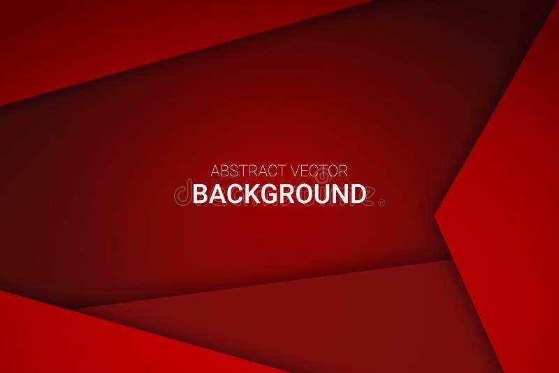 Progettazione rossa astratta del fondo di pendenza di vettore immagini stock libere da diritti