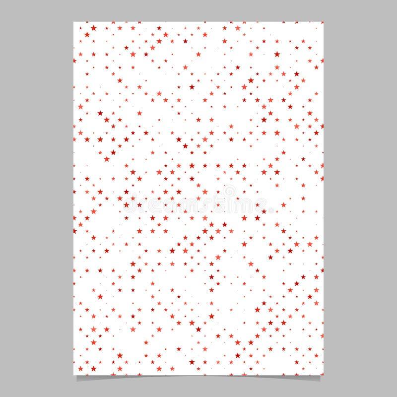 Progettazione rossa dell'opuscolo del fondo del modello di forma della stella del pentagramma royalty illustrazione gratis