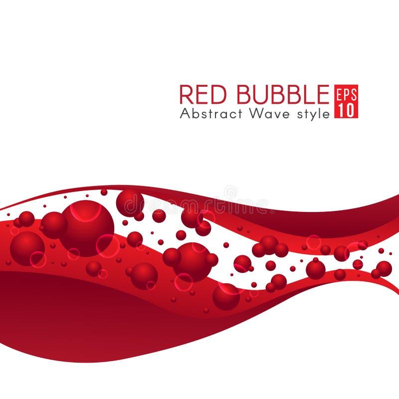 Progettazione rossa di vettore di astrattismo dell'onda e della bolla royalty illustrazione gratis