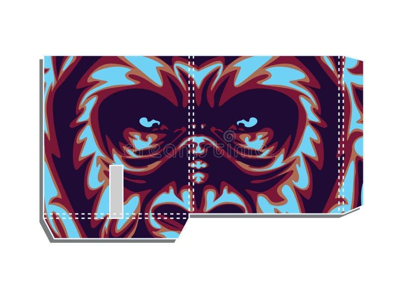 Progettazione sacra della geometria con la gorilla come modellistica illustrazione di stock
