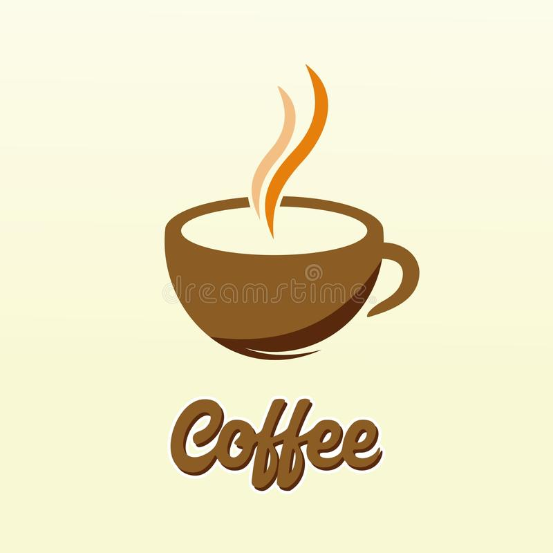 PROGETTAZIONE SEMPLICE E PULITA DELLA TAZZA DI CAFFÈ DI VETTORE illustrazione vettoriale