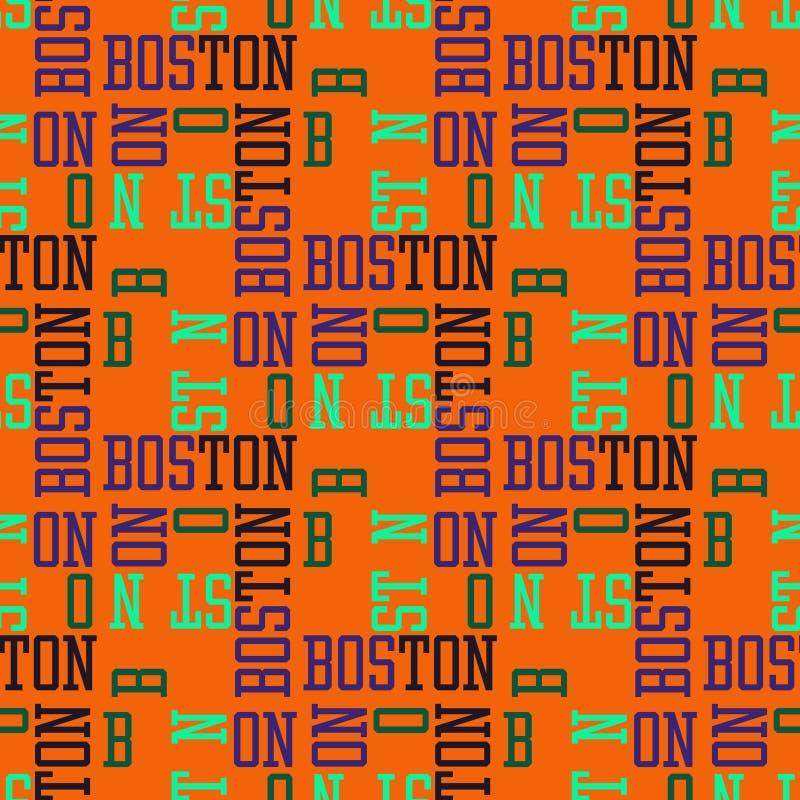 Progettazione senza cuciture del modello di Boston illustrazione di stock