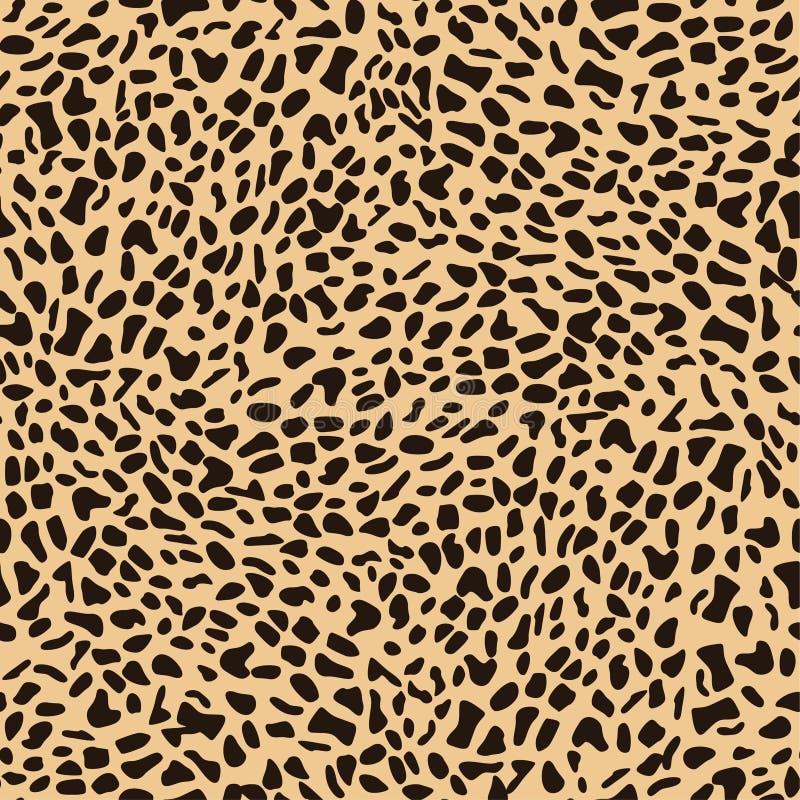 Progettazione senza cuciture del modello del leopardo illustrazione vettoriale